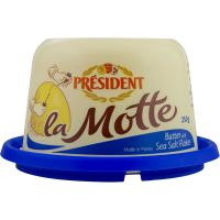 Manteiga com Sal la Motte Président Pote 250g   Caixa com 6 Unidades - Cod. 3228021000084C6