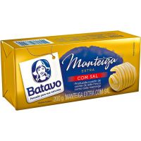 Manteiga Extra com Sal Batavo Tablete 200g - Cod. 7891097012686