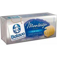 Manteiga Extra sem Sal Batavo Tablete 200g - Cod. 7891097015519