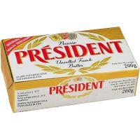 Manteiga sem Sal Président Tablete 200g | Caixa com 20 Unidades - Cod. 3228022910023C20