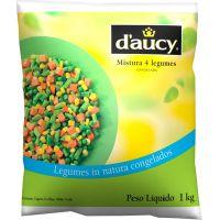 Mistura com 4 Legumes Congelados D'aucy 1kg | Caixa com 10 Unidades - Cod. 3248451066177C10