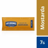 Mostarda Hellmann's Sachê 7g | Com 168 unidades - Cod. 67891150057564