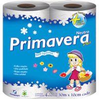 Papel Higiênico Folha Simples Plus Primavera | 4 Unidades - Cod. 7896075301103