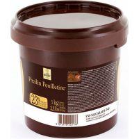 Recheio de Avelã com Amêndoas Pralin Feuilletine Cacao Barry 1kg | Caixa com 6 Unidades - Cod. 3073419301201C6