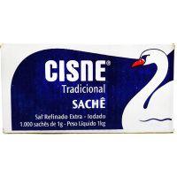 Sal Refinado Cisne Sachê 1g | Com 1000 Unidades - Cod. 7896035271514