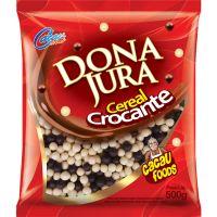 Confeito Crocante Cacau Foods Mini Branco e Preto 500g - Cod. 7896497200909