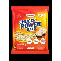 Confeito de Chocolate Choco Power Ball Micro Branco 300g - Cod. 7896072641530