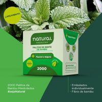 Palito de Dente Natural Sabor Menta Embalado | Com 2000 Unidades - Cod. 7898920238343