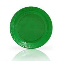 Prato Descartável Vitalform Verde 15cm   Com 10 Unidades   Caixa com 20 Unidades - Cod. 7898912338044C20