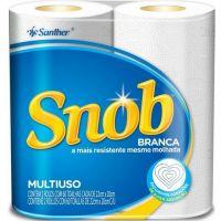 Papel Toalha Snob Branca | Com 2 Unidades | Fardo com 12 Unidades - Cod. 7896110061221C12