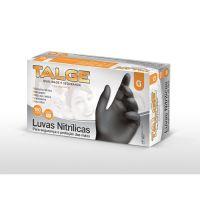 Luva Nitrílica Talge Preta Tamanho G   Com 100 Unidades - Cod. 7898946757866