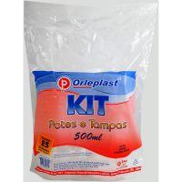 Pote Descartável Orleplast Translúcido com Tampa 500ml | Pacote com 25 Unidades - Cod. 7897257123025