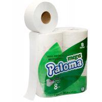Papel Higiênico Paloma Folha Simples Rolão 300mtX10cm | Com 8 Unidades - Cod. 7896026800242