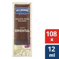 Molho Para Salada Hellmann's Oriental 12ml | Com 108 sachês - Cod. 7891150077171