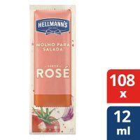 Molho Para Salada Hellmann's Rosé 12ml | Com 108 sachês - Cod. 7891150077188