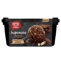 Sorvete Kibon Inspirações Brownie com Castanhas 1,3L   Caixa com 4 - Cod. 7891150074521C4