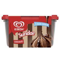 Sorvete Kibon Sundae de Chocolate 1,4L | Caixa com 4 - Cod. 7891150068315C4