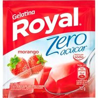 Gelatina Royal Zero Açúcar Morango 12g - Cod. 7622300172770