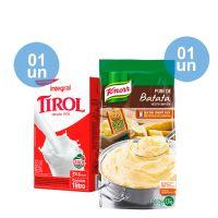 Combo - Compre 1 Leite Tirol Integral 1L + 1 Purê de Batatas Knorr 1,01kg e Ganhe 25% de desconto - Cod. C39284