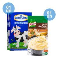 Combo - Compre 1 Leite Integral Santa Clara 1L + 1 Purê de Batatas Knorr 1,01kg e Ganhe 50% de desconto - Cod. C39285