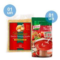 Combo - Compre 1 Queijo Parmesão Ralado Parmissimo Sem Desidratar 500g + 1 Base Tomate Desidratado Knorr 750g e Ganhe 35% de desconto - Cod. C39286
