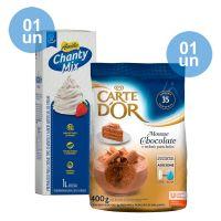 Combo - Compre 1 Chantilly Amélia Chanty Mix 1L + 1 Mousse de Chocolate Carte D'Or 400g e Ganhe 35% de desconto - Cod. C39287