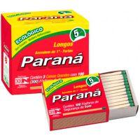 Fósforo Paraná Família | Caixa 10 Unidades Cada uma com 40 Palitos - Cod. 7896080900223