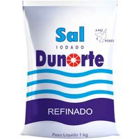 Sal Refinado Dunorte Iodado 1kg - Cod. 7898124620012C10