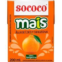 Água de Coco Sococo Mais Tangerina 200ml - Cod. 7896004401041C24