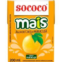 Água de Coco Sococo Mais Maracujá 200ml - Cod. 7896004401652C24