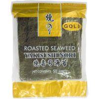 Alga Nori para Sushi Haian Siweite Seaweed Nanton Gold 150g | Com 50 Folhas - Cod. 6927311100110