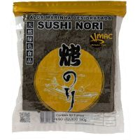 Alga Nori para Sushi Mac Gold 140g | Com 50 Folhas - Cod. 735201183114