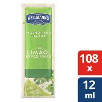 Molho Para Salada Hellmann's Limão e Ervas Finas 12ml   Com 108 sachês - Cod. 67891150077166