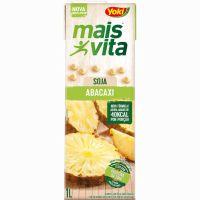 Bebida de Soja Mais Vita Abacaxi Tetra Pak 1L   Caixa com 12 Unidades - Cod. 7891095010738C12