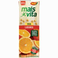 Bebida de Soja Mais Vita Laranja Tetra Pak 1L   Caixa com 12 Unidades - Cod. 7891095010707C12