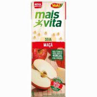 Bebida de Soja Mais Vita Maçã Tetra Pak 1L   Caixa com 12 Unidades - Cod. 7891095010684C12