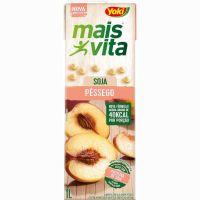 Bebida de Soja Mais Vita Pêssego Tetra Pak 1L   Caixa com 12 Unidades - Cod. 7891095010691C12