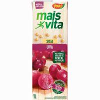 Bebida de Soja Mais Vita Uva Tetra Pak 1L   Caixa com 12 Unidades - Cod. 7891095010677C12