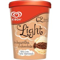 Sorvete Kibon Light 2em1 Baunilha e Chocolate 1L | Caixa com 4 - Cod. 7891150026728C4
