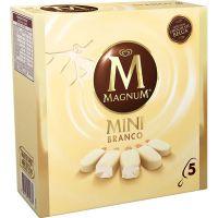 Sorvete Kibon Caixa Premium Mini Magnum Branco 55ML | Caixa com 6 - Cod. 7891150019881C6