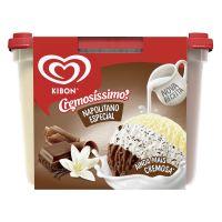 Sorvete Kibon Pote Cremosíssimo Trisabor Creme/Chocolate/Flocos 2L | Caixa com 4 - Cod. 7891150024571C4
