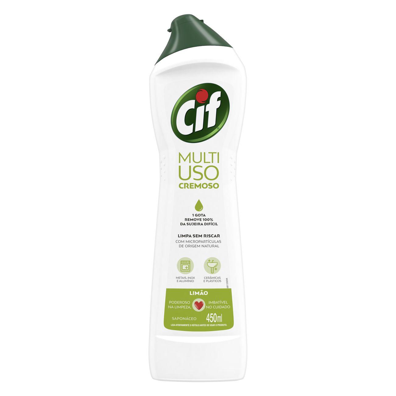 Limpador CIF Cremoso Lim�o 450ml