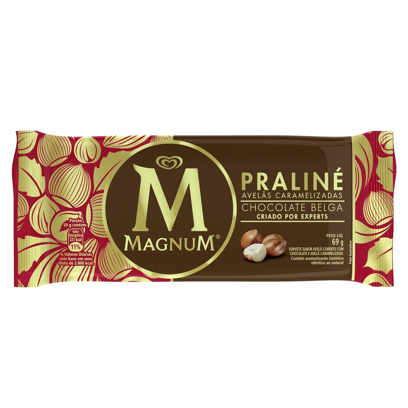 Sorvete Kibon Magnum Pralin� 69G | Caixa com 16