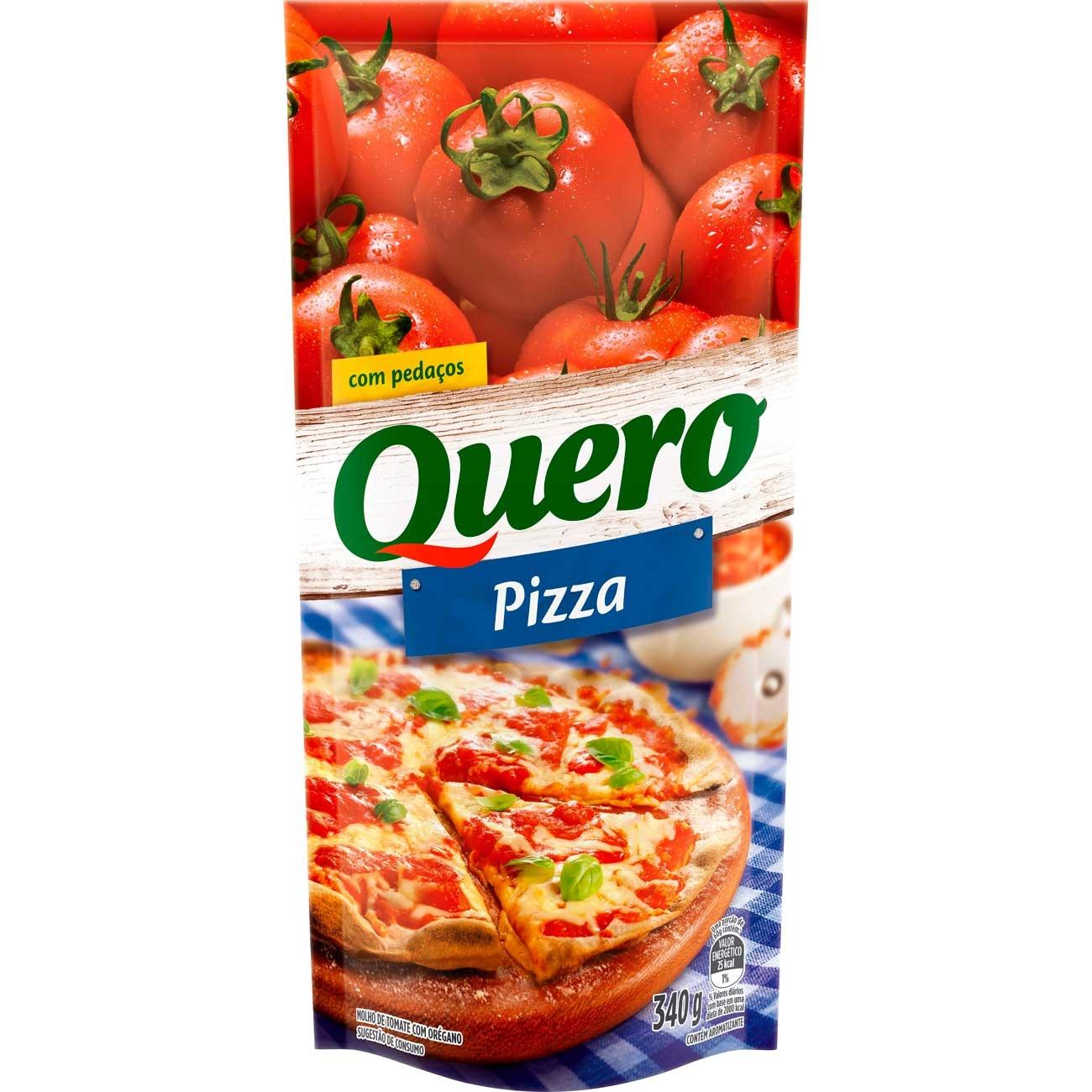 Molho De Tomate Quero Pizza Pouch 340g | Caixa com 24 unidades