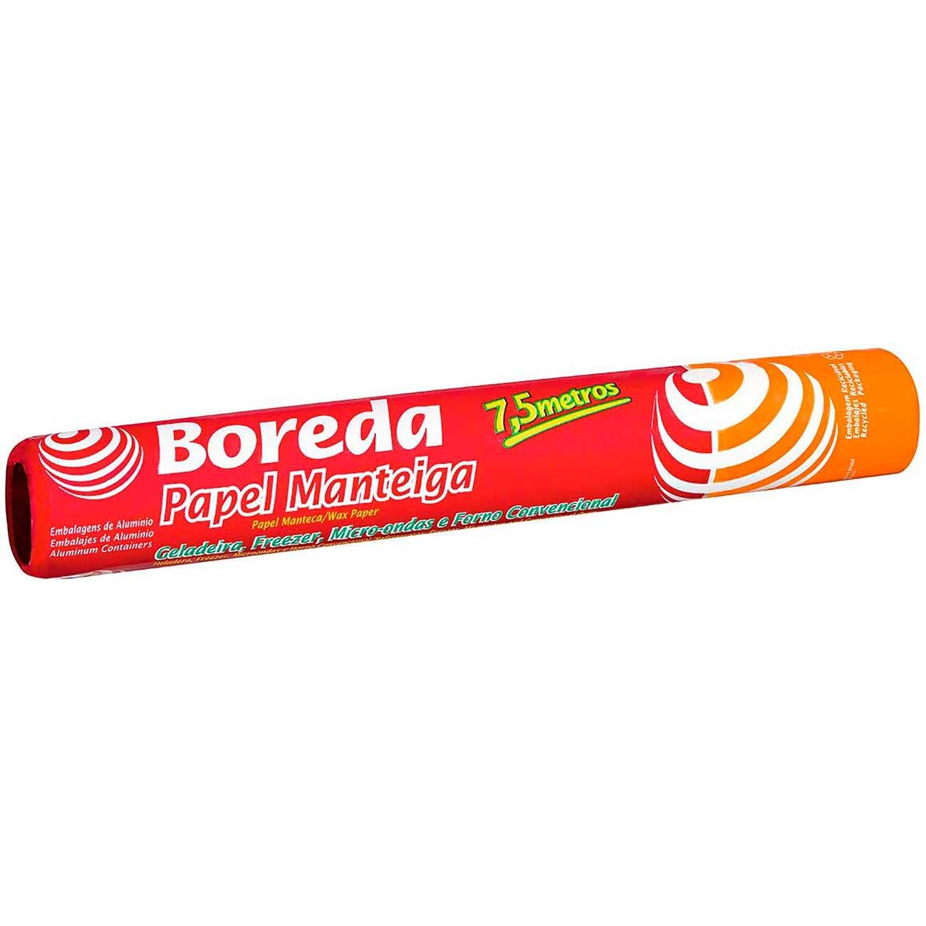 Papel Manteiga Boreda 30 x 7,5m | Caixa com 12 unidades