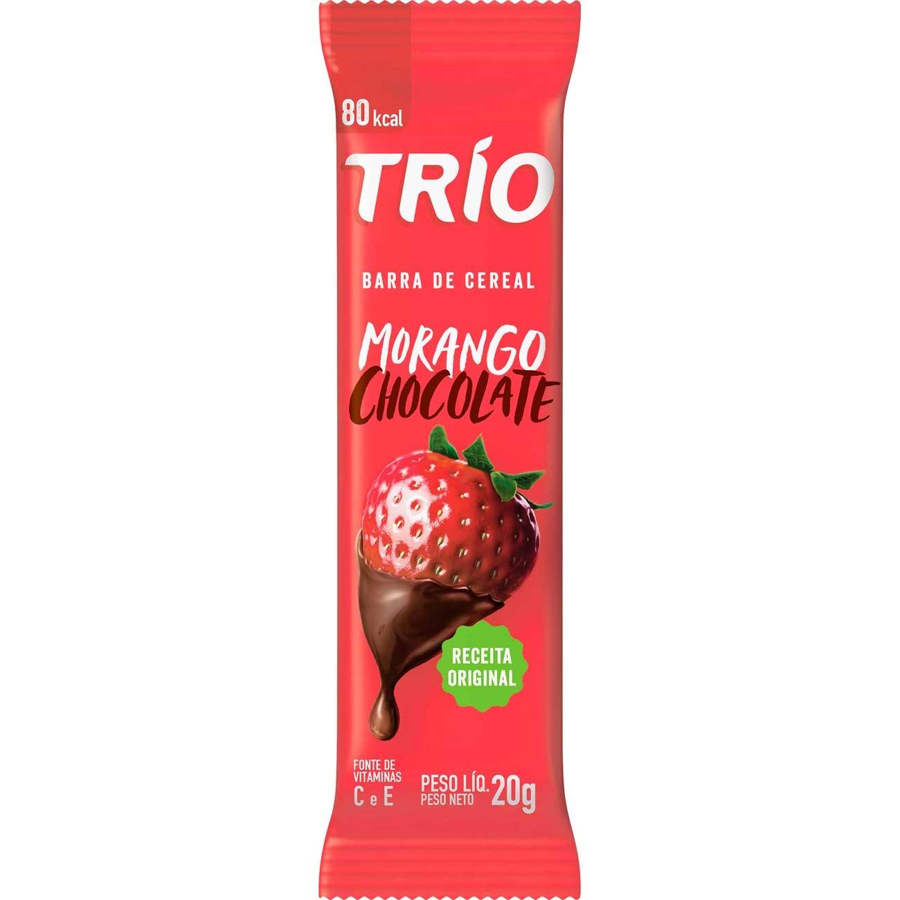 Barra De Cereais Trio Morango E Chantilly 20g | Caixa com 12 unidades