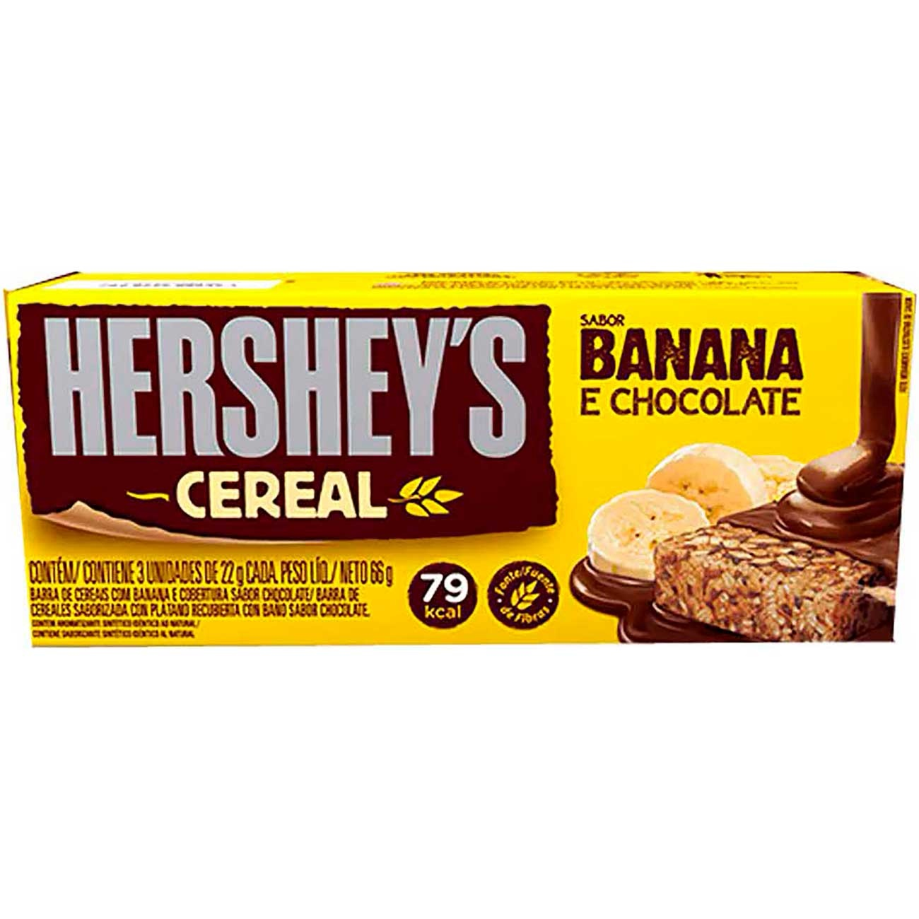 Chocolate Hersheys Banana Light 22g | Caixa com 24 unidades