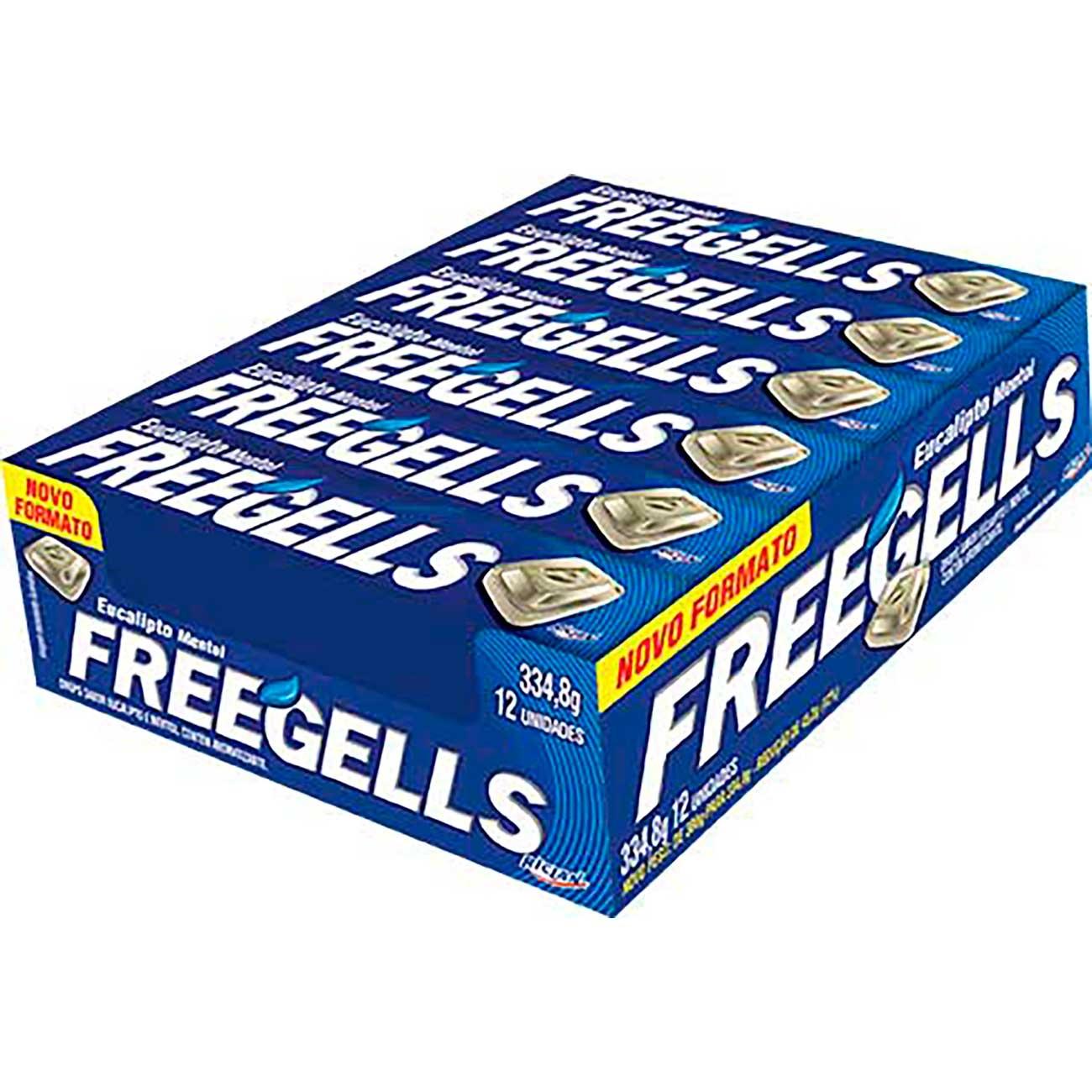 Drops Freegells Eucalipto | Caixa com 12 unidades