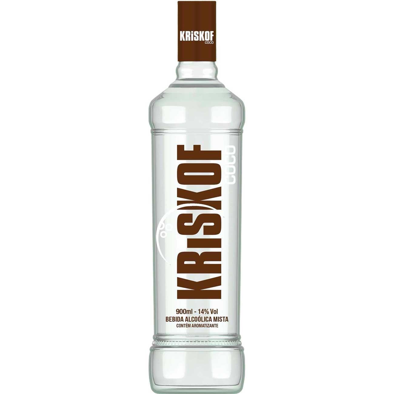 Vodka Kriskof Coco 900ml   Caixa com 6 unidades