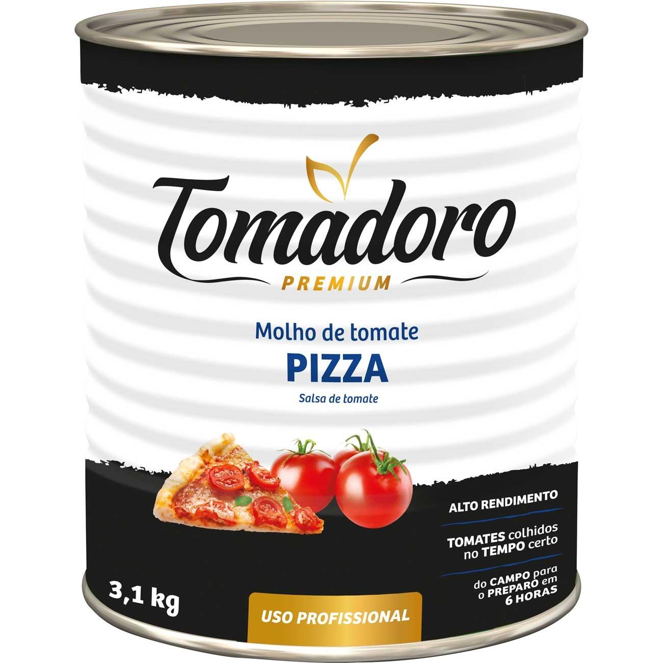Molho De Tomate Tomadoro Premium Pizza Lata 3.1kg